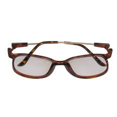Ris Wanita Kebesaran GEEK Lensa Kacamata Biasa Kacamata Macan Tutul Bingkai Cetak