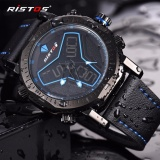 Jual Ristos Jam Tangan Pria Sport Waterproof Analog Quartz Sports Led Digital Multifungsi Tahan Air Sports Men Watch 9341 Intl Online