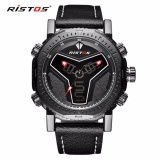 Harga Ristos Jam Tangan Pria Sport Waterproof Analog Quartz Sports Led Digital Multifungsi Tahan Air Sports Men Watch 9341 Merk Longbo