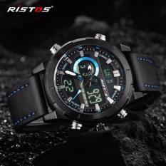 Beli Ristos Jam Tangan Pria Sport Waterproof Analog Quartz Sports Led Digital Multifungsi Tahan Air Sports Men Watch 9342 Intl Online