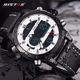 Beli Ristos Jam Tangan Pria Sport Waterproof Analog Quartz Sports Led Digital Multifungsi Tahan Air Sports Men Watch 9342 Intl Yang Bagus