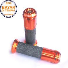Toko Rizoma Grip Motor Cnc Tipe B Handgrip Universal Untuk Semua Motor Merah Online Terpercaya