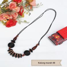 RM-kalung wanita murah bahan kayu