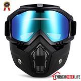 Review Robesbon Mt 009 Motor Kacamata Dengan Masker Yang Bisa Dilepas Dan Filter Mulut Harley Style Melindungi Padding Helmet Sunglasses Terbaru