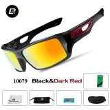 Harga Termurah Rockbros Bersepeda Kacamata Polarized Sunglasses Outdoor Sport Sepeda Goggles Eye Protector Hitam Merah Tua Intl