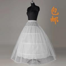Tips Beli Yijiaqin Rok Fashion Berkawat Dalaman Gaun Pengantin Agar Mengembang Warna Putih Yang Bagus