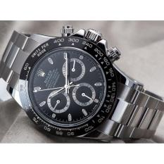 Rolex-Daytona Jam Tangan Otomatis Pria ( Tanpa Baterai ) - Full Stainless Steel Design - Automatic Watch Racing Sport Water Resistant