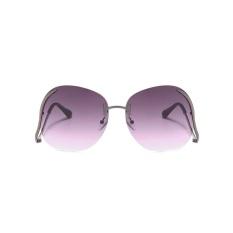 Romantis Wanita Transparan Besar Optik Lensa Sunglasses Merek Desainer Elegan-Intl