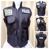 Review Pada Rompi Turn Back Crime Protector Polisi Vest Police