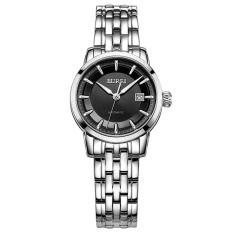 Rooroom 24 Pria Watch Genuine Treasure Shuttle Bor Impor Mesin Automatic Mechanical Watch Tahan Air Pria's Luminous Strip (1 X Wanita Watch) (GraySilver)