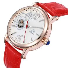 Rooroom Shenhua SHENHUA Baru FASHION LADY Rose Diamond Watches AliExpress Menjual Grosir (Merah)
