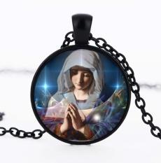 Rorychen Christian Virgin Mary Liontin Batu Permata Perhiasan-Intl