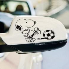 Rorychen Cute Snoopy Kickball Mirror / Back Mirror / Mirror Car Stickers – intl
