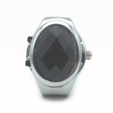 Jual Bulat Elastis Alloy Quartz Gemstone Watch Finger Ring Watches Menawan Hadiah Intl Branded Murah