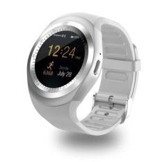 Bulat Layar Smart Watch Y1 Bluetooth Phone Watch Wear Kartu Dukungan WeChat QQ Online-Intl