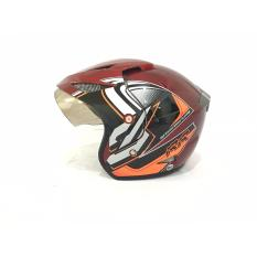 Promo Rr Helm Helmet Dewasa Merah List Orange Rajaob