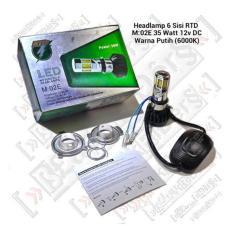 RTD Lampu Headlamp LED 6 Sisi RTD Super Terang Untuk Motor