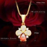 Jual Ruby Perhiasan Set Kalung Cincin Anting Anting 18 Karat Gold Platinum Berlapis Merah Kubik Zirkonia Perhiasan S20055 Online