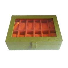 Rumania Craft Kotak Jam Tangan Isi 12 - Hijau-Jingga b9efd7fdee