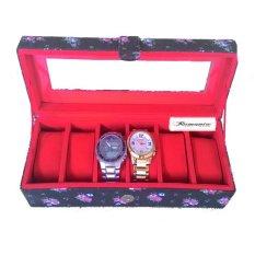 Rumania Craft Kotak Jam Tangan Isi 6 - Bunga Hitam 4c844d612d