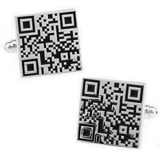 Rxbc2011 Mens QR Kode Gaya Perancis Kemeja Manset 1 Pair Set-Intl