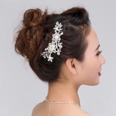 S & F Wanita Cantik Alloy Rhinestone Rambut Bridal Sisir Pernikahan Gaun Headwear