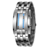 Harga S Dan P Yang Baru Haid Tahan Air Stainless Steel Digital Memimpin Gelang Perhiasan Perak Termurah