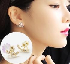 S925 Modis Perempuan Sterling Perak Bunga Aster Kecil Elegan Anting Anting