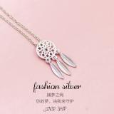 S925 Bulu Sterling Silver Kalung Liontin Other Murah Di Tiongkok