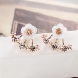 Promo S925 Jarum Perak Bunga Daisy Kecil Setelah Menggantung Anting Anting Di Tiongkok