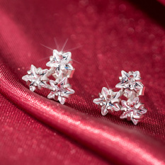 S925 Jianyue berlian asli Mini anting hypoallergenic anting-anting