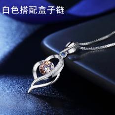 ... S925 perak murni Kalung perempuan kalung klavikula versi Jepang dan Korea masuknya ornamen minimalis murid gaya