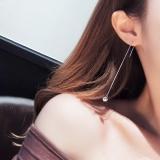 Ulasan Tentang S925 Sterling Silver Sederhana Hypoallergenic Style Anting Kawat Telinga