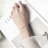 Review S925 Korea Fashion Style Perempuan Manik Manik Gelang Sterling Silver Gelang Gelang Perak Gelang Oem Di Tiongkok