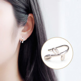 S925 Korea Fashion Style Sterling Silver Rajut Daun Anting Original