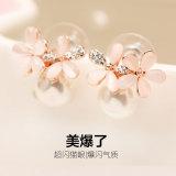Review S925 Korea Perempuan Lima Bunga Perak Opal Akupunktur Telinga Anting Anting Other Di Tiongkok