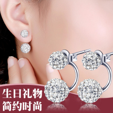 Anting Silver 925 Diamond Wanita korea