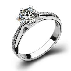 S925/18 K Produk Asli Karbon Tinggi Bor Miniatur Cincin Berlian Cincin