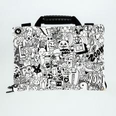 Sablon Doodle Art 13-14 Inchi softcase Tas/Bag sarung laptop Macbook Notebook Keren Elegant