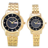 Beli Saint Costie Jam Tangan Couple Body Gold Black Dial Stainless Steel Band Sc Rt 5355Gl Gb Couple Cicilan