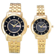 Review Saint Costie Jam Tangan Couple Body Gold Black Dial Stainless Steel Band Sc Rt 5355Gl Gb Couple Dki Jakarta