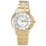 Spesifikasi Saint Costie Jam Tangan Pria Body Gold White Dial Stainless Steel Band Sc Rt 5355G Gw Murah
