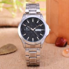 Saint Costie Jam Tangan Pria Body Silver Black Dial Stainless Steel Band Sc Rt 5381B G Sb Indonesia Diskon 50