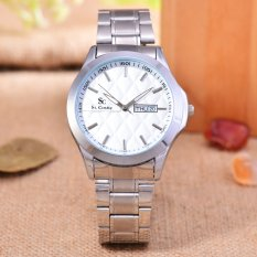 Saint Costie - Jam Tangan Pria - Body Silver - White Dial - Stainless Steel Band - SC-RT-5381B-L-SW