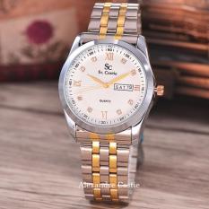 Toko Saint Costie Jam Tangan Pria Stainless Steel Band Gold Silver Rt5510 Putih Termurah