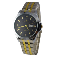 Review Saint Costie Jam Tangan Pria Stainless Steel Band Gold Silver Rt6381 Hitam Saint Costie