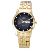 Spesifikasi Saint Costie Jam Tangan Pria Stainless Steel Band Sc Rt 5126G Gb Gold Hitam Merk Saint Costie