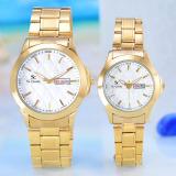 Spesifikasi Saint Costie Jam Tangan Pria Wanita Body Gold White Dial Stainless Steel Band Sc Rt 5381Gl Gw Couple Japan Yg Baik