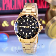 Jual Saint Costie Jam Tangan Unisex Body Gold Black Dial Gold Stainless Steel Band Sc Rt Rx 005A Boy Gb Gold Saint Costie Murah
