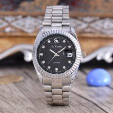 Spesifikasi Saint Costie Jam Tangan Unisex Body Silver Black Dial Silver Stainless Steel Band Sc Rx 002B Boy Tgl Lengkap Dengan Harga